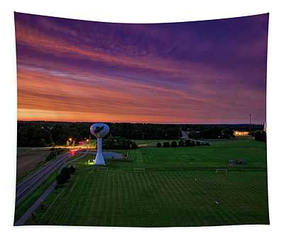 Sunset Over The Tower Tapestry