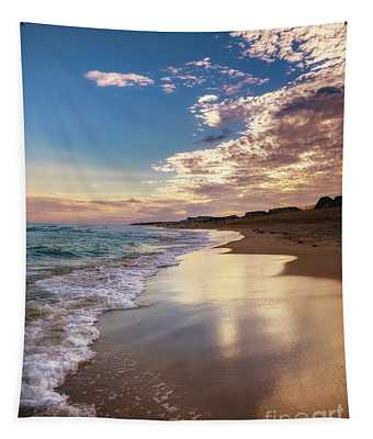 Sunset Reflections In Montauk Tapestry