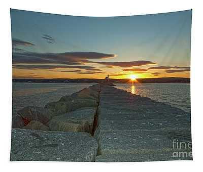 Sunset Seawall Tapestry