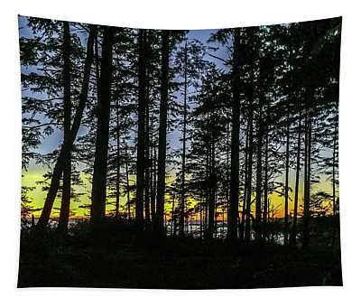Sunset Thru The Trees Tapestry