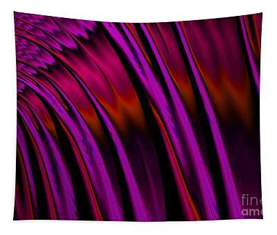 Sunset Waterfall Reflections Fractal Abstract Tapestry
