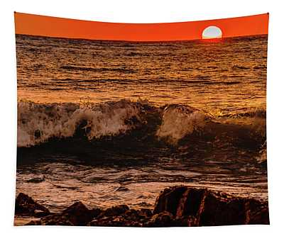 Sunset Wave Tapestry