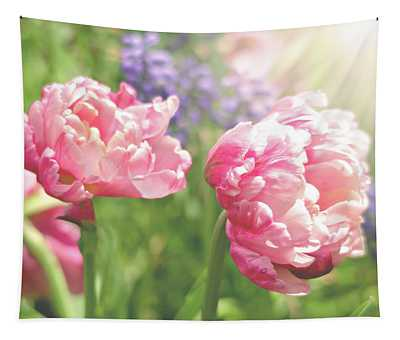 Sunshine And Tulips Tapestry