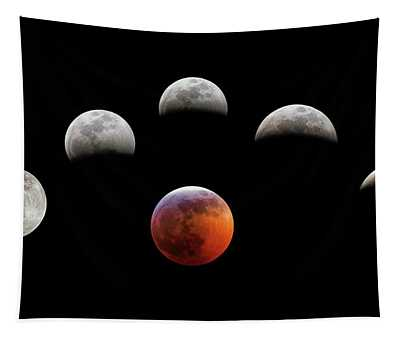 Super Blood Wolf Moon Tapestry