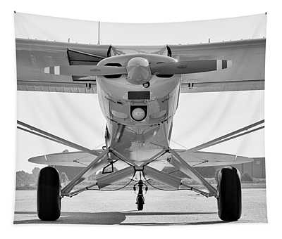 Super Cub In Black And White Tapestry