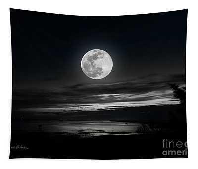 Super Worm Equinox Full Moon Tapestry