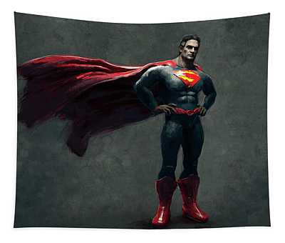 Superman Sketch 2 Tapestry