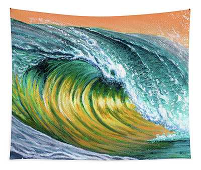 Surf Into The Sunset Tapestry