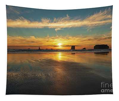 Surf Sand Sunset Plane Tapestry