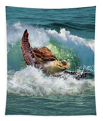 Surf To The Turf Tapestry