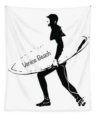 Surfer Venice Beach Tapestry