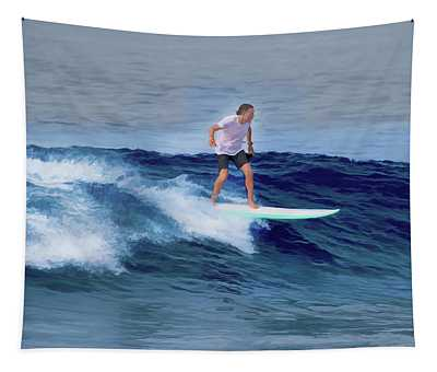 Surfing Andy Tapestry
