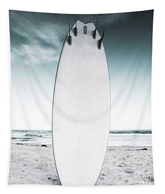 Surfs Up At The Beach Tapestry