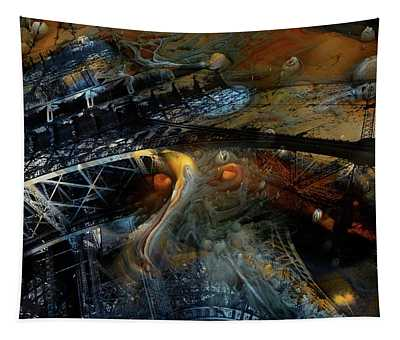 Surreal Eiffel Paris France Tapestry