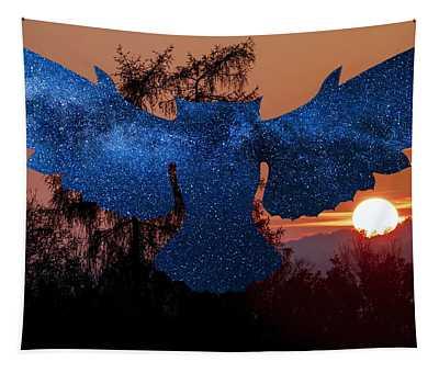 Sunset Owl Tapestry