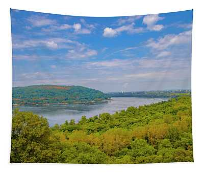 Susquehanna River In Autumn Tapestry