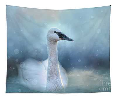 Swan In The Winter Tapestry
