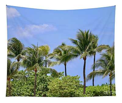 Swaying Palm Trees Tapestry
