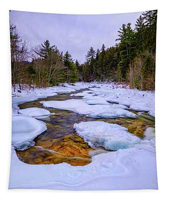 Swift River Winter  Tapestry
