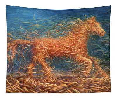 Swirly Horse 1 Tapestry