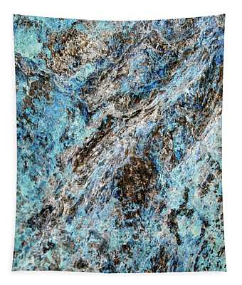 Symphony Of Blues Abstract Art Tapestry
