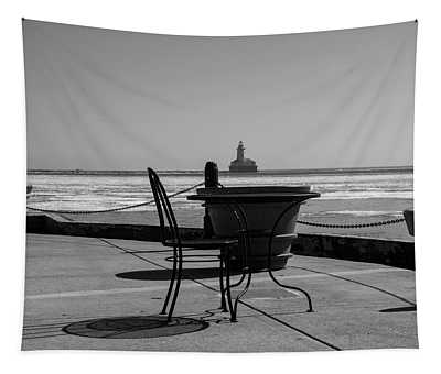 Table For One Bw Tapestry