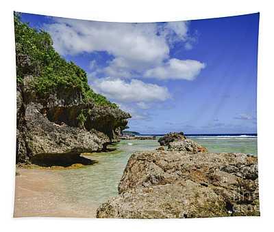 Tagachang Beach Guam Tapestry