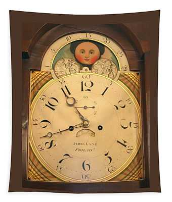 Tall Case Clock Face, Around 1816 Tapestry