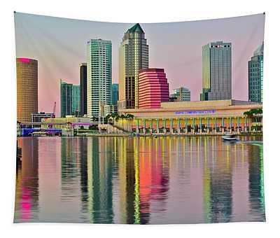 Tampa In Vivid Color Tapestry