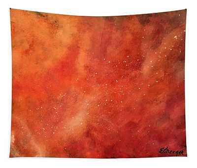 Tangerine Nebula Cloud Tapestry