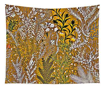 Tapestry Design With Gold And Autumn Colors Tapestry