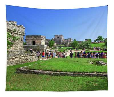 Temples Of Tulum Tapestry