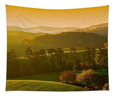 Smokey Mountain Sunrise Tapestry