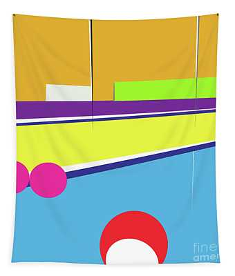 Tennis In Abstraction Tapestry