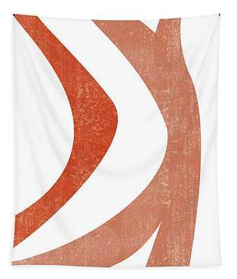 Terracotta Art Print 5 - Terracotta Abstract - Modern, Minimal, Contemporary Print - Burnt Orange Tapestry