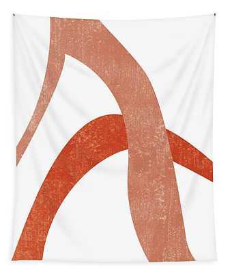 Terracotta Art Print 6 - Terracotta Abstract - Modern, Minimal, Contemporary Print - Burnt Orange Tapestry