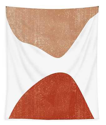 Terracotta Art Print 7 - Terracotta Abstract - Modern, Minimal, Contemporary Print - Burnt Orange Tapestry