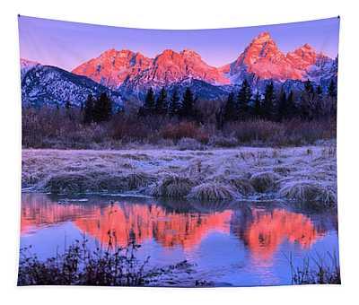 Teton Panorama T-shirt Tapestry
