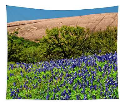 Texas Bluebonnets And Enchanted Rock 2016 Tapestry