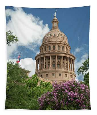 Texas Capital Building Tapestry