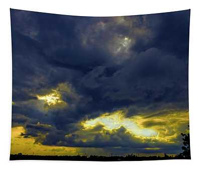 Texas Hill Country Storm Tapestry