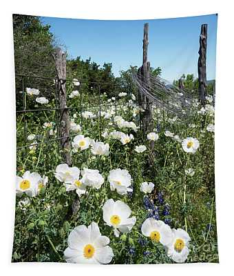 Texas Poppies Tapestry