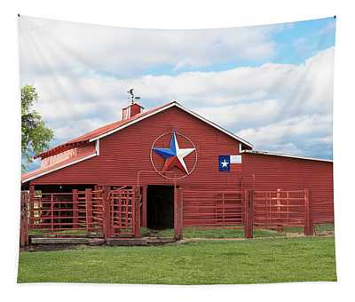 Texas Red Barn Tapestry