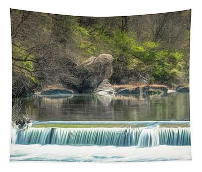 Texas River Falls Tapestry
