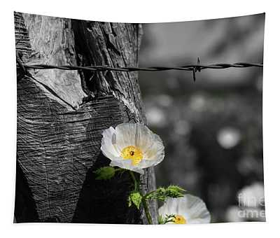 Texas Wildflower Selective Color Tapestry