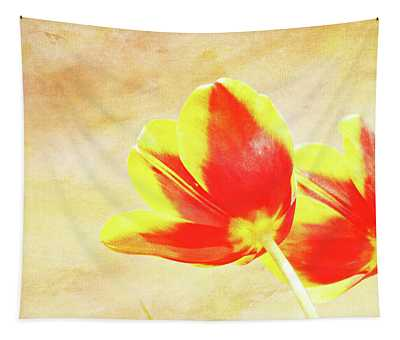 Textured Tulips Tapestry