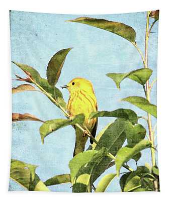 Textured Yellow Warbler Tapestry