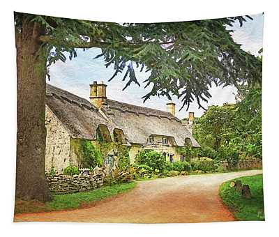 Thatched Roof Lane2 Tapestry