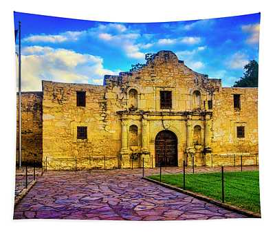 The Alamo Fortress Tapestry
