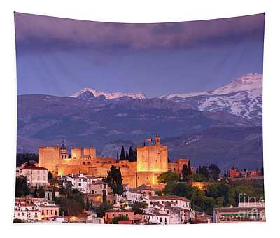 The Alhambra, Albaicin. Spring After The Snow Tapestry